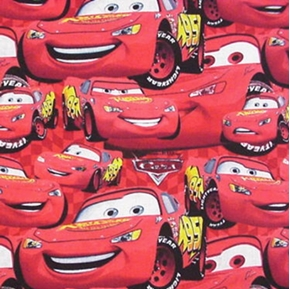 Picture of Disney Cars Red Car Lightning McQueen Cotton Fabric