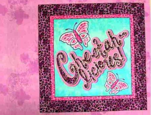 Disney Cheetah Girls Cheetahlicious Cotton Fabric Pillow Panel