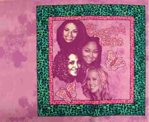 Disney Cheetah Girls Butterflies Cotton Fabric Pillow Panel