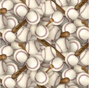 Sports Collection Baseball Home Run All Stars Cotton Fabric