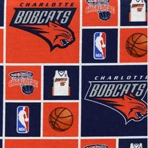 NBA Basketball Charlotte Bobcats Cotton Fabric