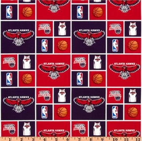 Nba Basketball Atlanta Hawks Cotton Fabric