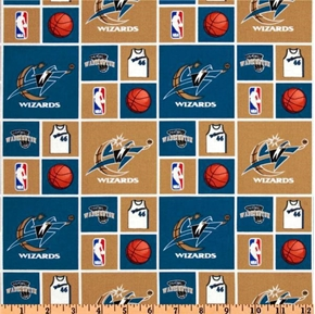 Nba Basketball Washington Wizards Cotton Fabric