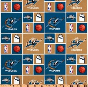 Nba Basketball Washington Wizards Cotton Fabric