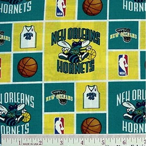 NBA Basketball New Orleans Hornets Cotton Fabric