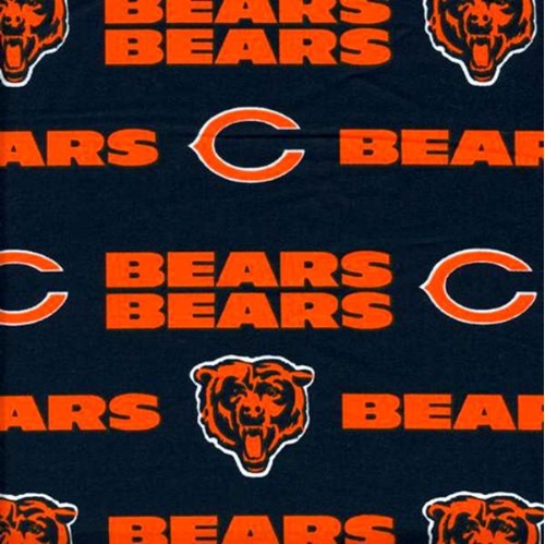 Nfl Football Chicago Bears 18X29 Cotton Fabric