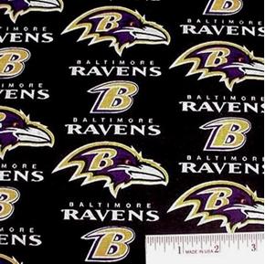 Nfl Football Baltimore Ravens 18X29 Cotton Fabric