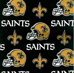 Nfl Football New Orleans Saints 18X29 Cotton Fabric