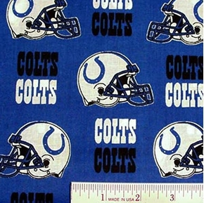 Nfl Football Indianapolis Colts 18X29 Cotton Fabric