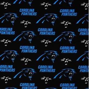Nfl Football Carolina Panthers Logos 18X29 Cotton Fabric