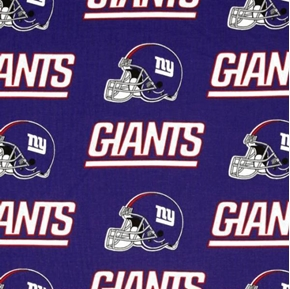 Nfl Football New York Giants 18X29 Cotton Fabric