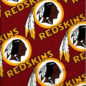 Nfl Football Washington Redskins 18X29 Cotton Fabric