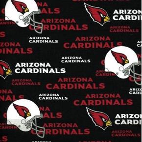 Nfl Football Arizona Cardinals Logos 18X29 Cotton Fabric