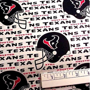 Nfl Football Houston Texans 18X29 Cotton Fabric