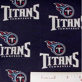 Nfl Football Tennessee Titans 18X29 Cotton Fabric