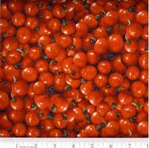 Cherry Tomatoes RJR Farmers Market 2009 Cotton Fabric