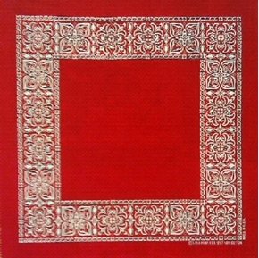 Red Bandana 19 Inch Square Cotton Fabric Pillow Panel