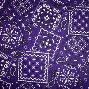 Blazin Bandanas Purple Bandana Pattern Cotton Fabric