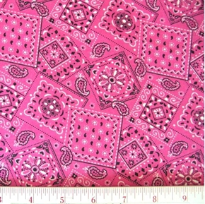 Picture of Blazin Bandanas Fuchsia Bandana Pattern Cotton Fabric