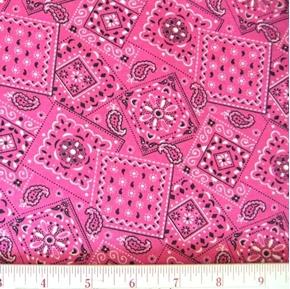 Blazin Bandanas Fuchsia Bandana Pattern Cotton Fabric