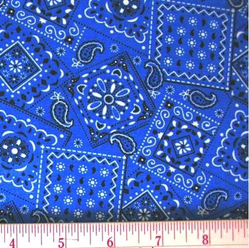 Blazin Bandanas True Blue Bandana Pattern Cotton Fabric