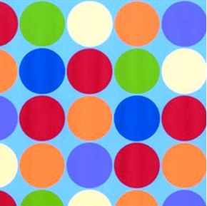 Farm Friends Colorful Polka Dots 1 14 Inch Dot On Blue Cotton Fabric