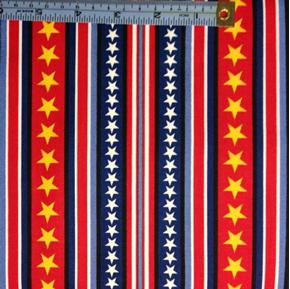 Picture of Hugs for Heroes Peanuts Stars and Stripes Red and Blue Cotton Fabric