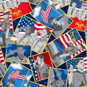 a Scout Is Patriotic Boy Scout Portraits Cotton Fabric