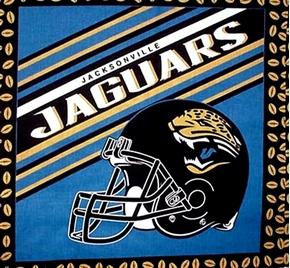 Picture of NFL Football Jacksonville Jaguars Helmet Cotton Fabric Pillow Panel