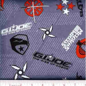 Picture of Flannel G.I.Joe The Rise of Cobra Grey Cotton Fabric