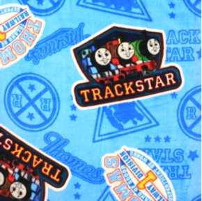 Thomas the Tank Engine Track Star RR Signs Cotton Fabric