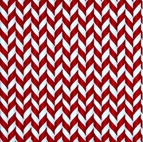 Elf On The Shelf Holiday Red White Peppermint Stripe Cotton Fabric