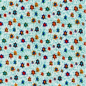 Picture of Hanukkah Hallmark Star of David Swatches Cotton Fabric