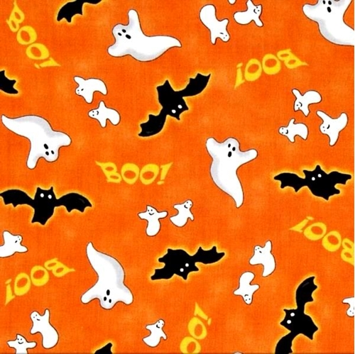 Cotton Fabric - Holiday Fabric - Spooky Eve Halloween Ghosts and ...