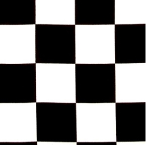 Picture of Racing Checks Black and White 1 1/2 Inch Checks Cotton Fabric