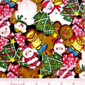 Christmas Holiday Cookies Sprinkles 2008 Cotton Fabric