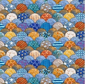 Picture of Sea Quilts Scallop Quilt Pattern Cotton Fabric