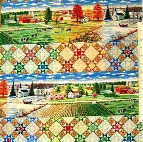 Quiltscapes in Rows Rebecka Barker Cotton Fabric