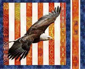 Spirit Of America Eagle Cotton Fabric Pillow Panel