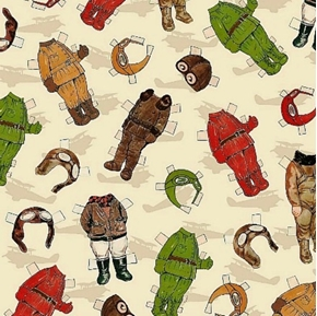 Picture of Paper Dolls Around The World Travel Outfits Cotton Fabric