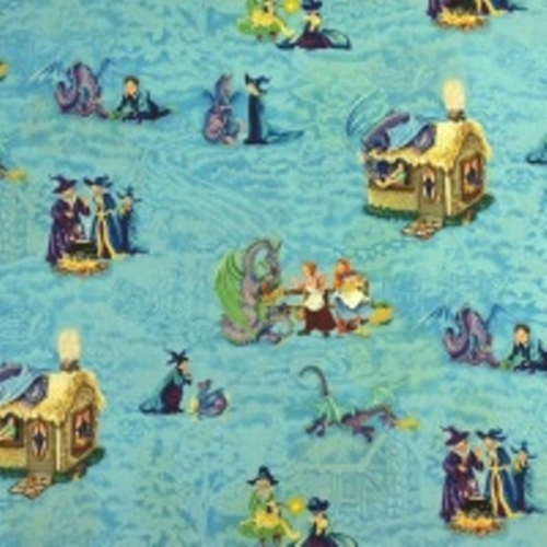 Cotton fabric childrens fabric wizard fun wizard and for Childrens cotton fabric by the yard