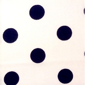 Polka Dots 5/8 Inch Dot Navy on White Cotton Fabric