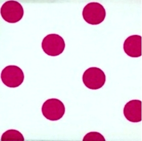 Polka Dots 58 Inch Dot Pink On White Cotton Fabric