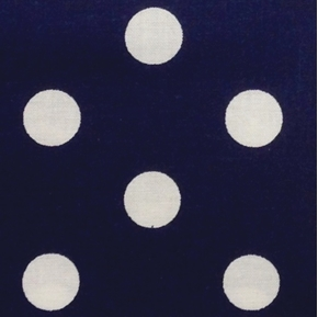 Reverse Polka Dots 5/8 Inch White Dot on Navy Cotton Fabric