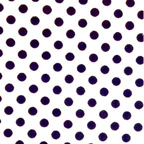 Polka Dots Quarter Inch Dot Navy on White Cotton Fabric