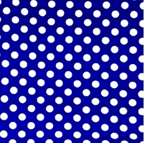 Reverse Polka Dots Quarter Inch White Dot on Blue Cotton Fabric