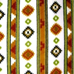 Southwestern Designs in Stripes Half Yard Fleece Fabric