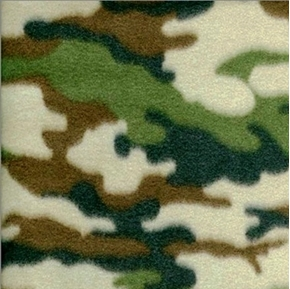 Army Camouflage Pattern Half Yard Fleece Fabric