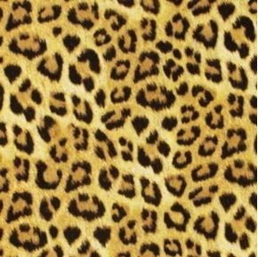 Picture of Safari Collection Jaguar Print Half Yard Faux Fur Fabric