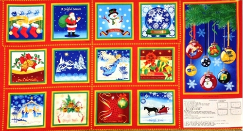 a Joyful Season Holiday 24X44 Fabric Poster And Book Craft Panel